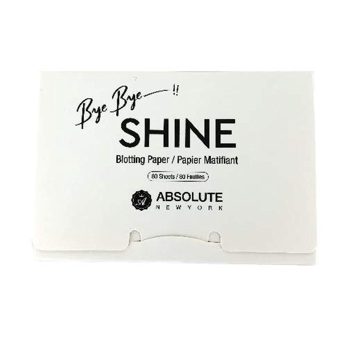 バランス召喚する郵便番号(3 Pack) ABSOLUTE Bye Bye Shine Blotting Paper (並行輸入品)