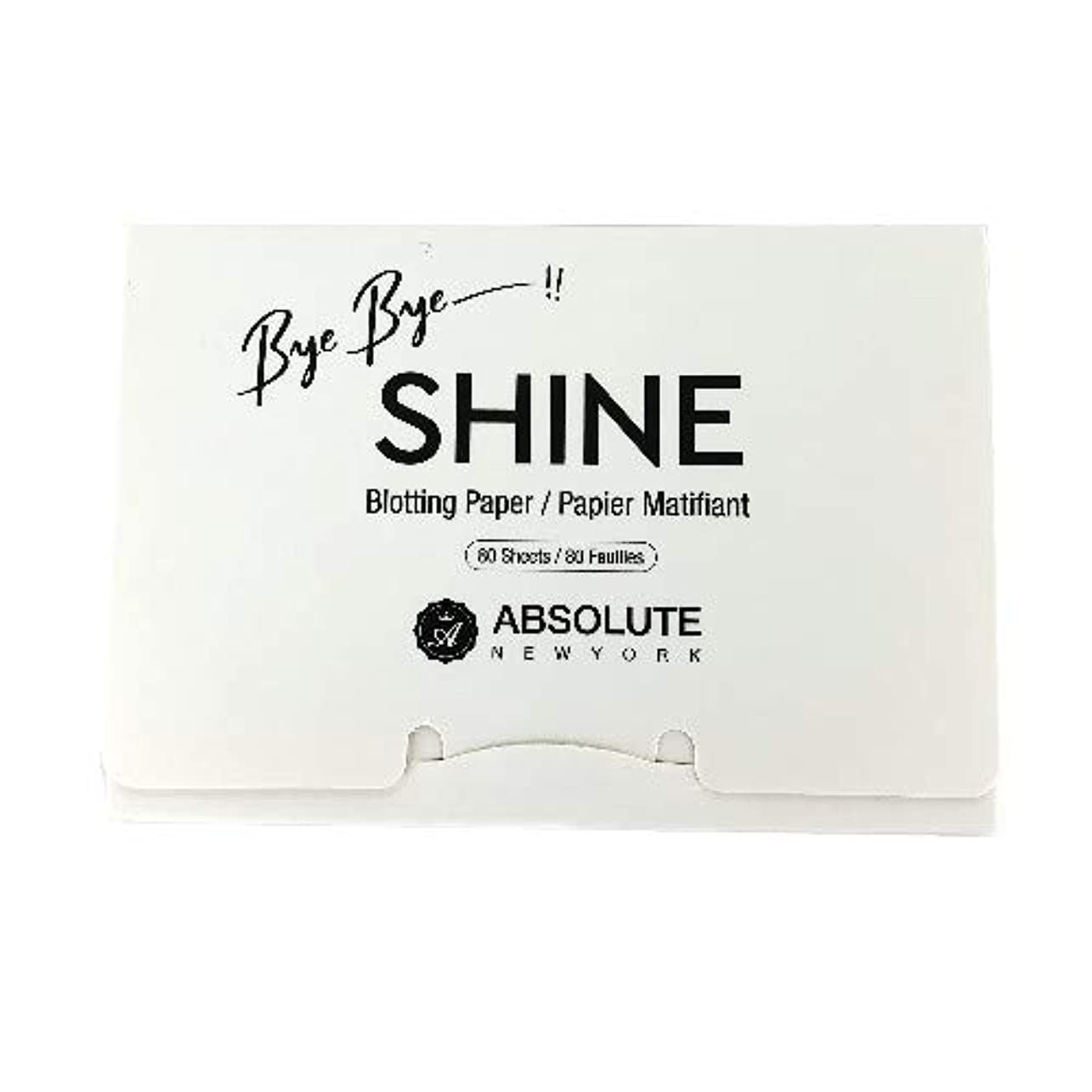 活性化最適法律(3 Pack) ABSOLUTE Bye Bye Shine Blotting Paper (並行輸入品)