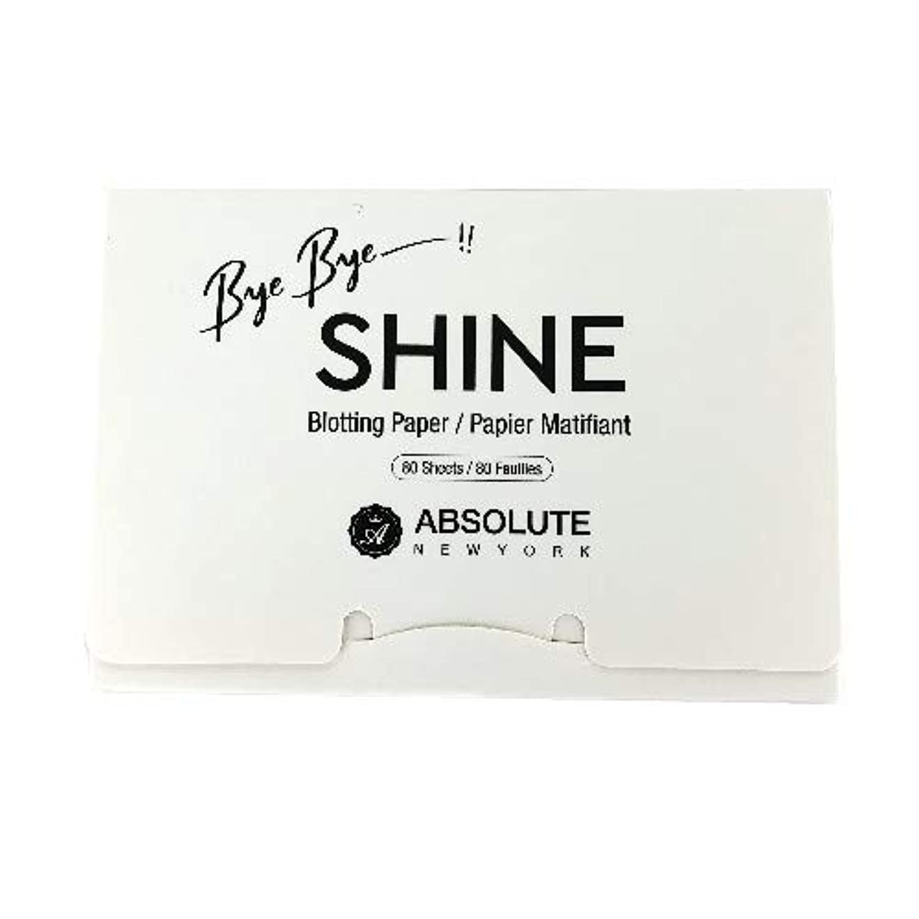 首二再編成する(3 Pack) ABSOLUTE Bye Bye Shine Blotting Paper (並行輸入品)
