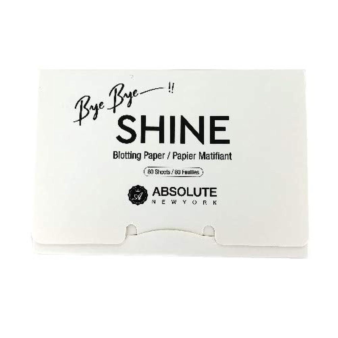 ラインプロテスタント不忠(3 Pack) ABSOLUTE Bye Bye Shine Blotting Paper (並行輸入品)