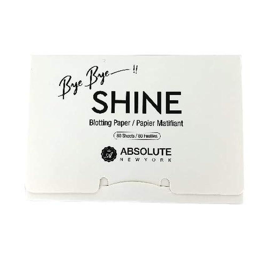 安心準備ができて分割(3 Pack) ABSOLUTE Bye Bye Shine Blotting Paper (並行輸入品)