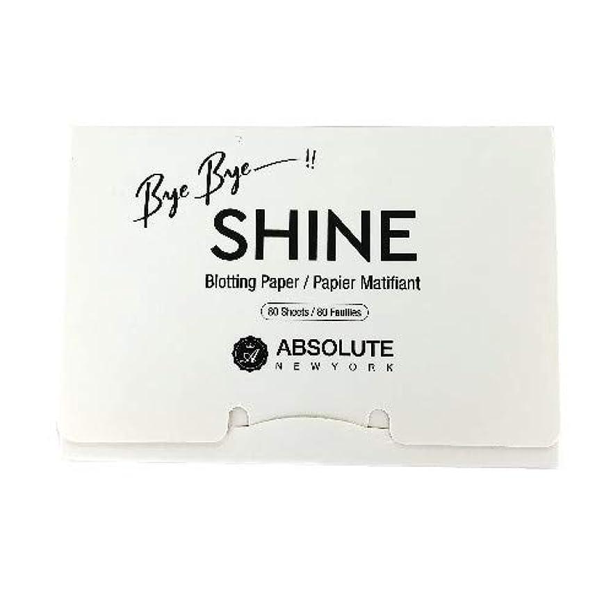 誠実エクスタシーあいまいな(3 Pack) ABSOLUTE Bye Bye Shine Blotting Paper (並行輸入品)