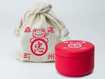 かえるのピクルス・ティーバッグ缶(巾着袋入り)ほうじ茶「ティーバッグほうじ茶×5個(缶入り)、巾着袋」