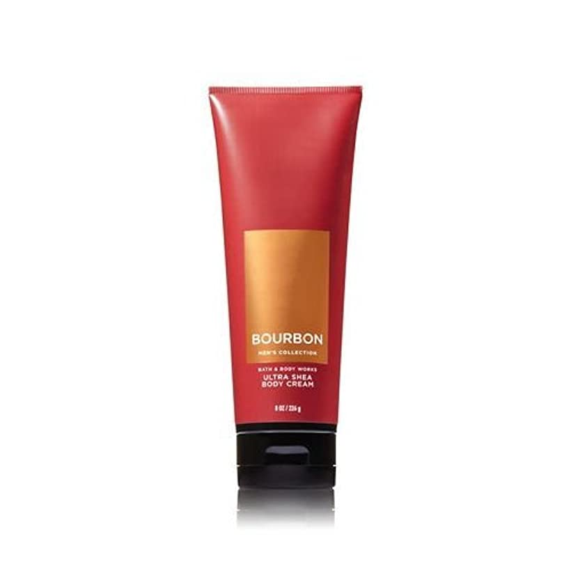 幸運ひねくれた重さ【並行輸入品】Bath and Body Works Bourbon for Men Ultra Shea Body Cream 226 g