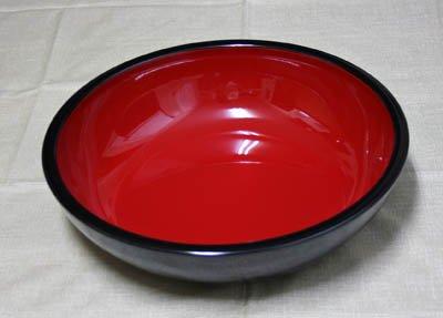 伝統工芸紀州漆器こね鉢14.0寸黒内朱