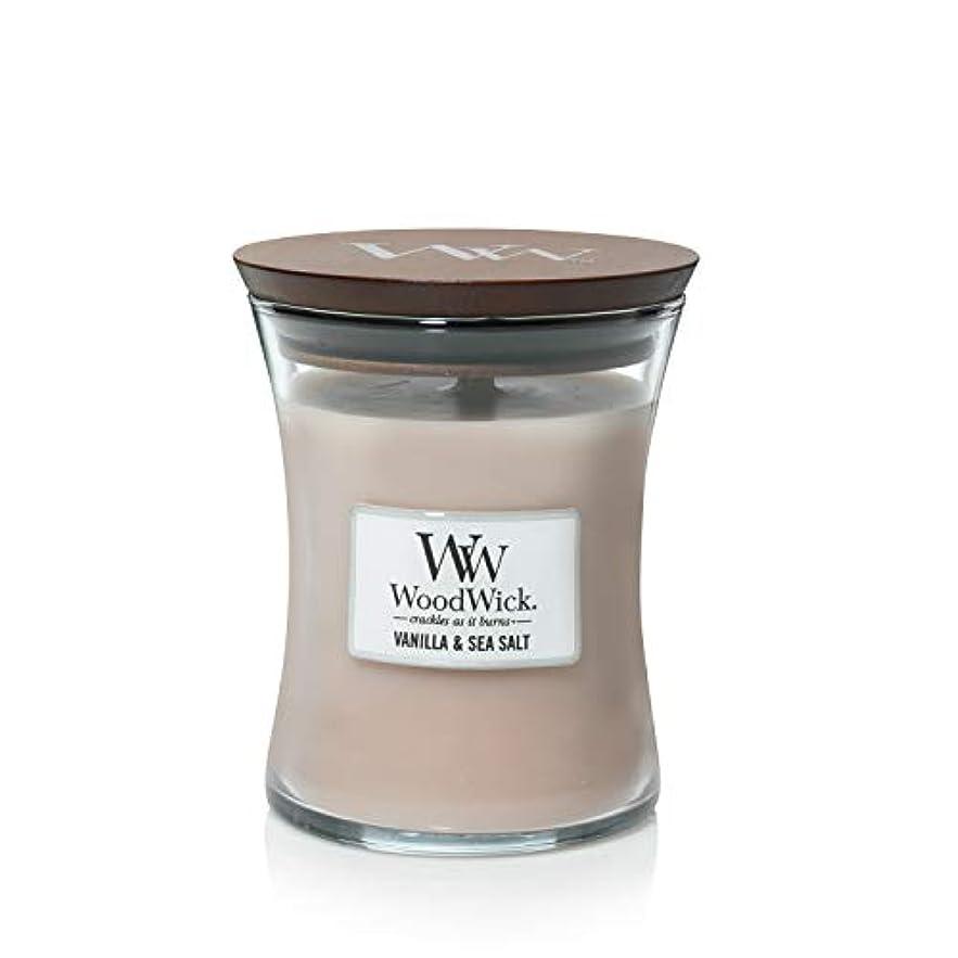 芝生抑制コーンウォールバニラSea Salt WoodWick 10 oz Medium砂時計Jar Candle Burns 100時間