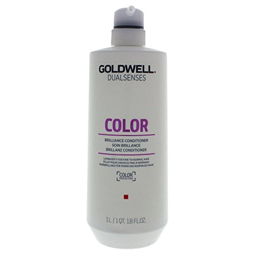気体の配置稚魚ゴールドウェル Dual Senses Color Brilliance Conditioner (Luminosity For Fine to Normal Hair) 1000ml