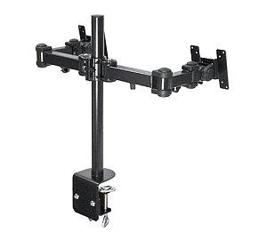 ユニットコム 剛腕 UNI-LCD-ARM-DUAL VESA規格75/100mm対応 DUALモニタ対8軸 クランプ固定式液晶モニタ用アーム