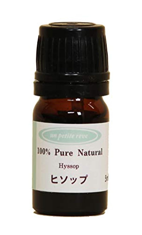 予想する調停者休憩するヒソップ 5ml 100%天然アロマエッセンシャルオイル(精油)