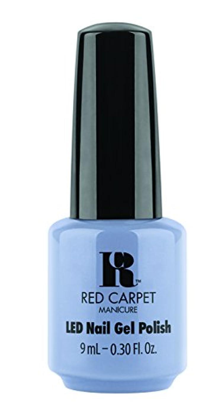 メールを書く一過性再編成するRed Carpet Manicure - LED Nail Gel Polish - Blue-Delicious - 0.3oz / 9ml