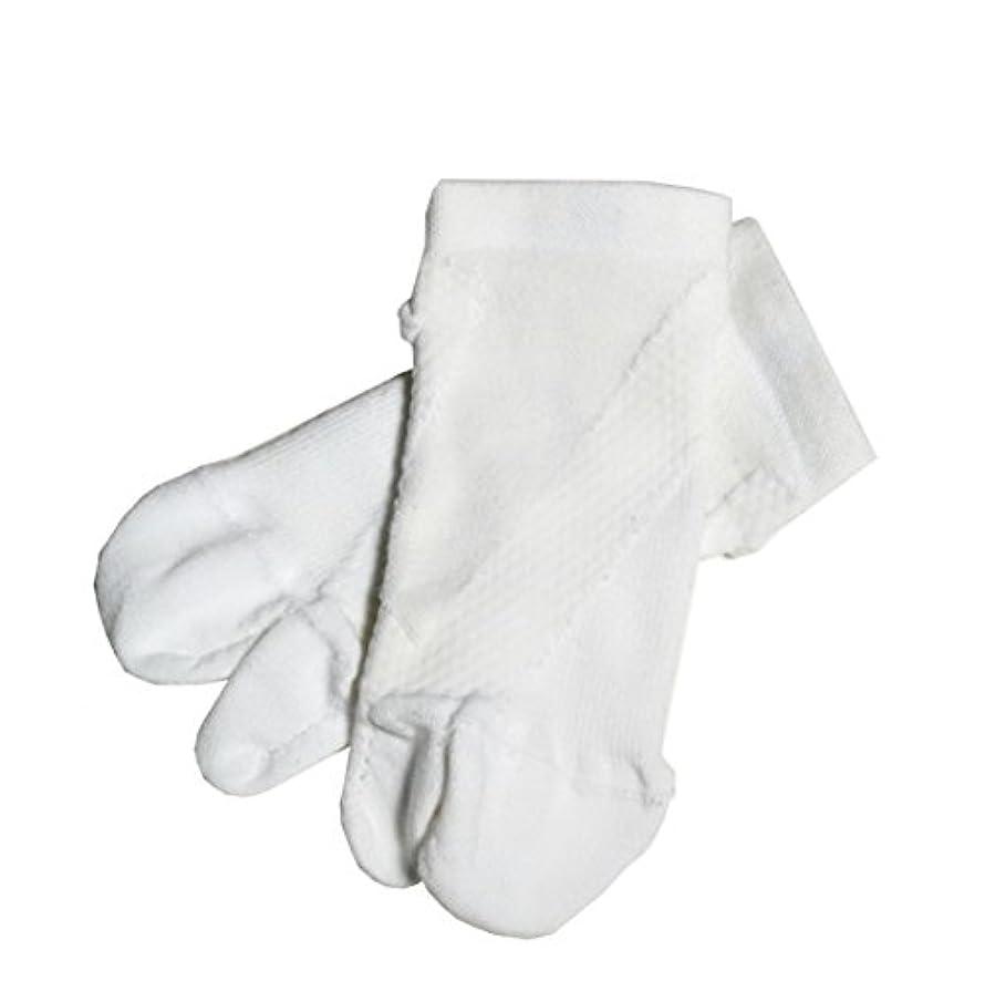 タブレット強調するプリーツさとう式 フレクサーソックス アンクル 白 (L) 足袋型