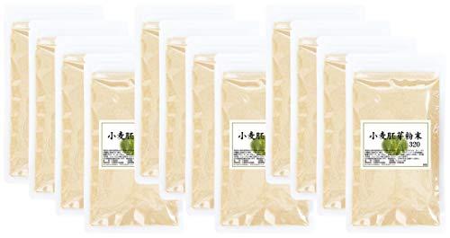 自然健康社 小麦胚芽粉末 320g(80g×4袋)×3個 チャック付き袋入り