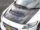 J'S RACING ZF1 CR-Z エアロボンネット Type-S フルカーボン ABS-Z1-CC