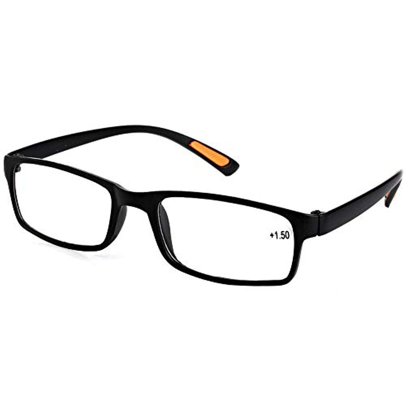 診療所亜熱帯グラムjackyee Tr90老眼鏡(サンドブラックフレーム)+250新しい樹脂製フレーム付き眼鏡老眼鏡+1.0 1.5 2.0 2.5 3.0 3.5 4.0視度