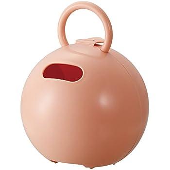 like-it ティッシュ ケース ポイッとボール (トイレットペーパー対応) アプリコットピンク 幅16.3x奥16.3x高20.8cm PRP-03L