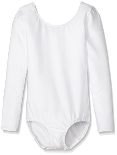 wundou(ウンドウ) 女子体操レオタード長袖 P520-00 ホワイト 140cm