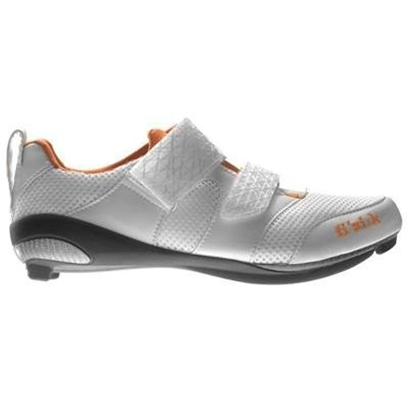 クラッシュアルコーブ時折Fizik Women's K1 Donna Triathlon Cycling Shoes White/Violet/Orange Size 41 [並行輸入品]