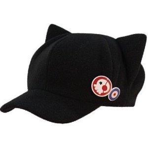 ネコ耳 帽子 バッジ2個付き 惣流 式波 アスカ ラングレー...