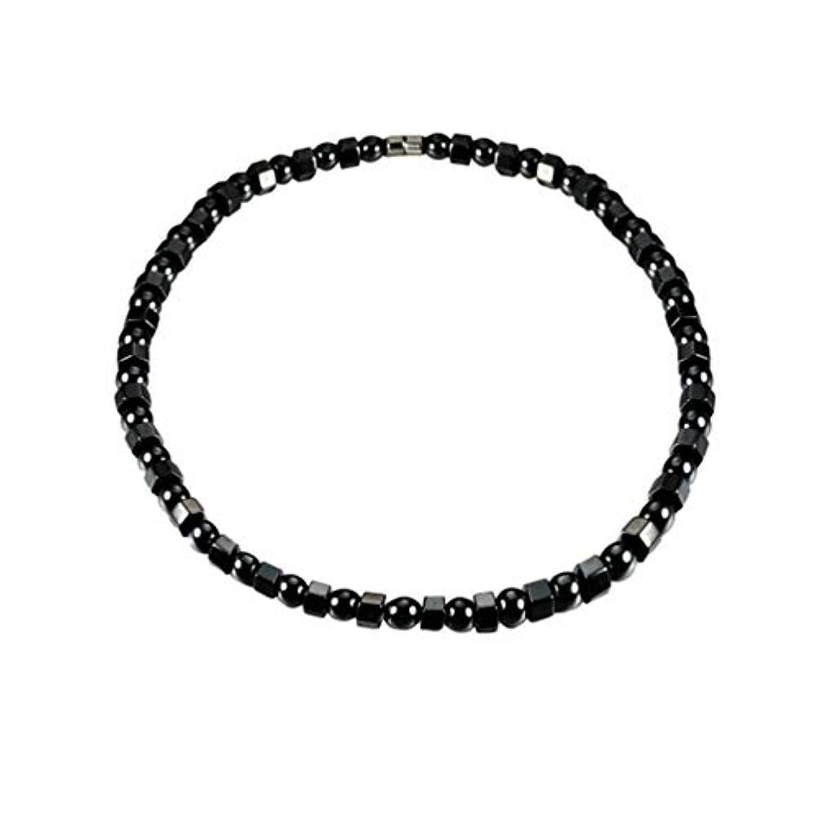 例可愛いタールHealifty ヘマタイト磁気ブレスレット健康磁気ブレスレットビーズストーンアンクレットジュエリー用男性女性関節炎手根管