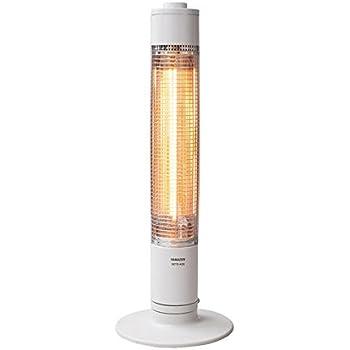 山善 グラファイトヒーター(900W/450W 2段階切替) 自動首振り機能付 ホワイト DCTS-A09(W)