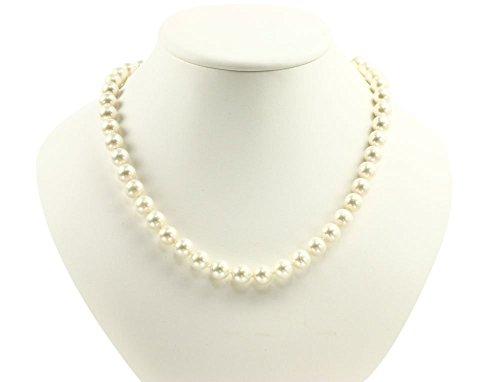 【品質保証】 本真珠ネックレス&イヤリングセット ホワイト ゆったりサイズ50cm 極太11mm  冠婚葬祭