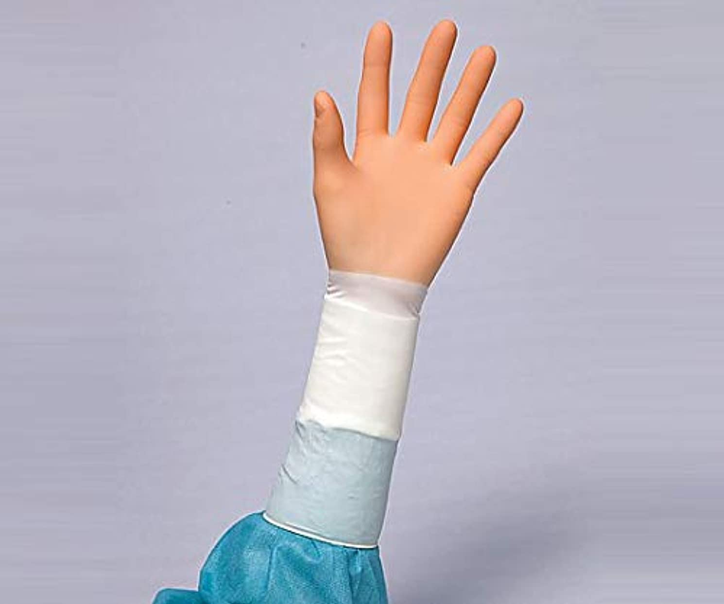 インフルエンザ聖歌ぼんやりしたエンブレム手術用手袋PF 20双 5.5