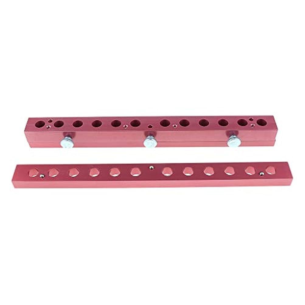 ドライブ生産的広々とした12のキャビティ穴の口紅型アルミニウム12.1mmの管DIYの唇型の詰物 - 2way