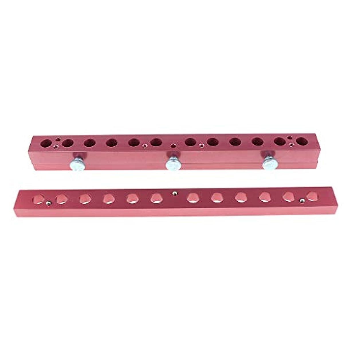 赤字辛い堤防12のキャビティ穴の口紅型アルミニウム12.1mmの管DIYの唇型の詰物 - 2way