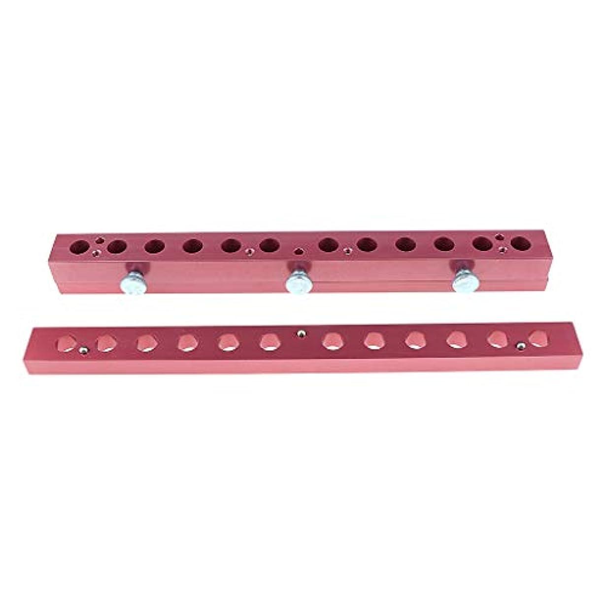 ギャップいう間違いなく12のキャビティ穴の口紅型アルミニウム12.1mmの管DIYの唇型の詰物 - 2way
