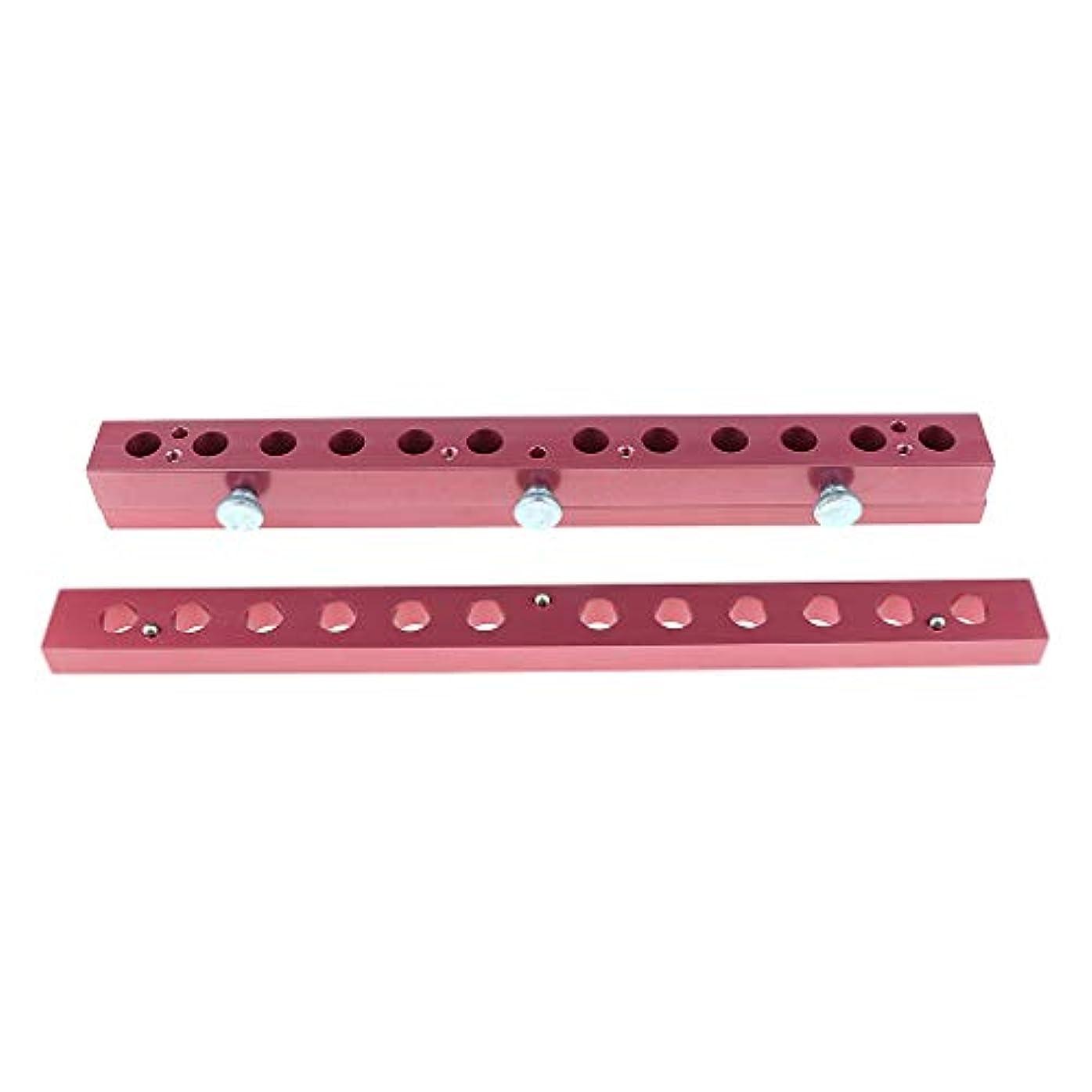 スポンジ彫る頑張る12のキャビティ穴の口紅型アルミニウム12.1mmの管DIYの唇型の詰物 - 2way