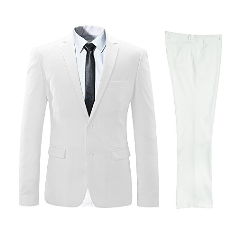 ビクトリー メンズ ビジネススーツ 上下セットスーツ 2つボダン 光沢あり立体裁断 ウォッシャブル 防シワ メンズ
