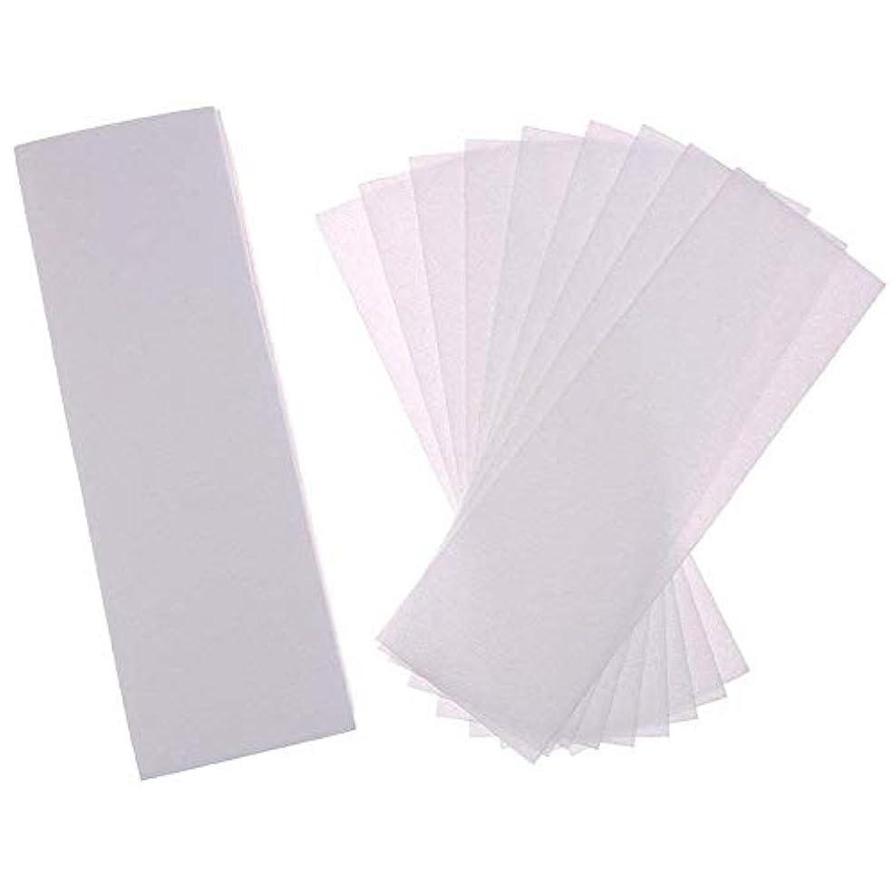 プラスチック時間空白Nrpfell 200パック脱毛ワックスストリップ不織布ワックスストリップ脱毛ストリップ顔、足、脇の下、体とビキニ用、ホワイト