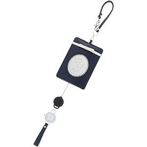 [フィールドワーク]Fieldwork パスケース イニシャル 時計 付き ネイビー LW052-4
