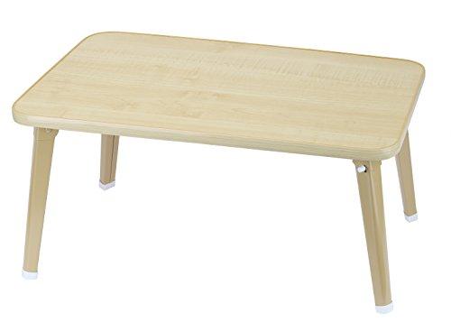 パール金属 ちゃぶ台 ナチュラル 幅60cm×奥行40cm×高さ29.5cm ローテーブル 折りたたみ 木目調 表面UV加工 N-8336