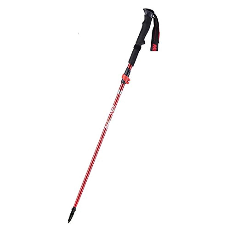ヒゲトレーニング金曜日折り畳みトレッキングポール, 軽量 杖?ステッキ アルペン テレスコ ピック 炭素繊維 クロスカントリー アウトドア用品 男性の杖?ステッキ