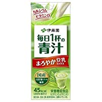 伊藤園 毎日1杯の青汁 まろやか豆乳ミックス 200ml紙パック×24本入