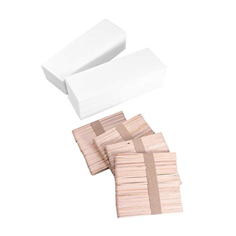 ルーム木製ナビゲーションHEALIFTY 体毛除去ワックスストリップ紙脱毛脱毛器ワックススティック400個