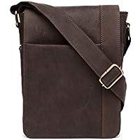 "10"" Inches Genuine hunter Leather Cross Body Shoulder Bag Handmade Purse"