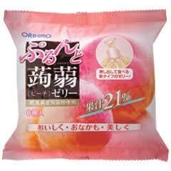 オリヒロ ぷるんと蒟蒻ゼリー 新パウチ ピーチ 24袋