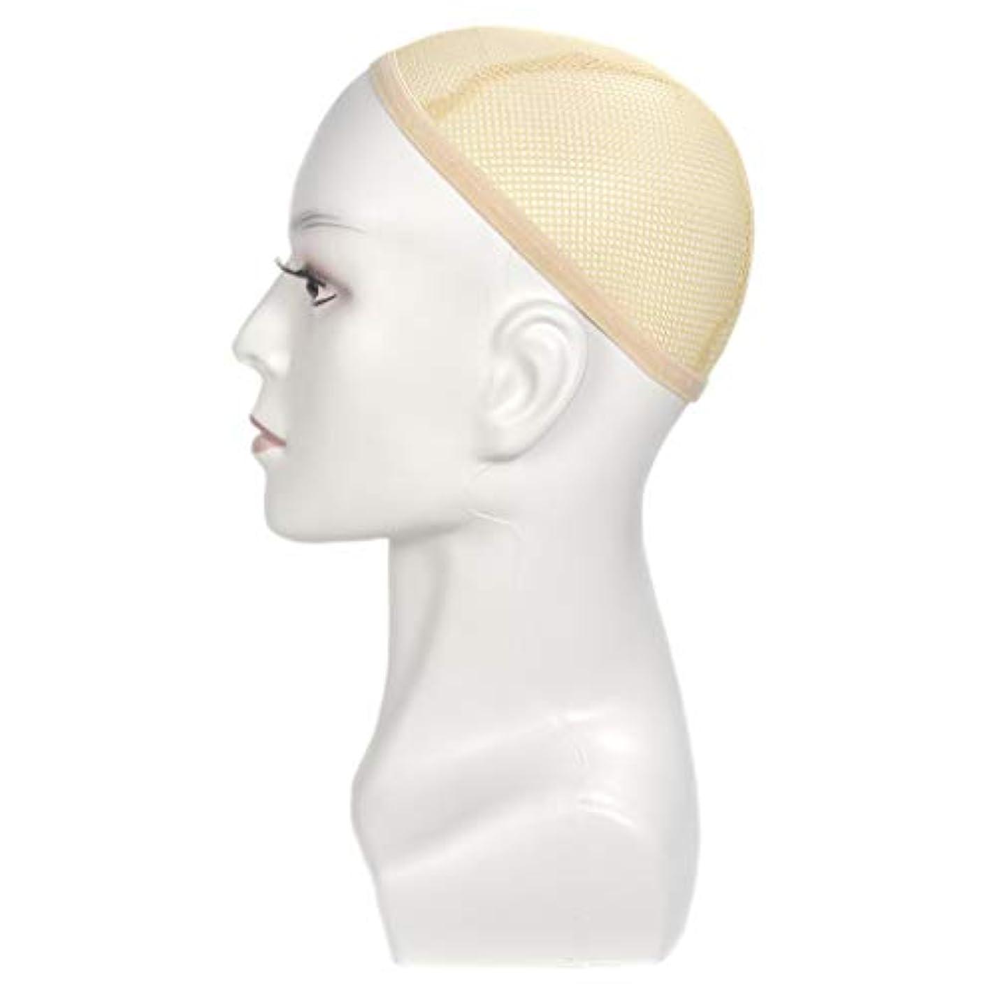帰るファイバフロントウィッグ用マネキンヘッドディスプレイスタイリング理髪トレーニングヘッド13.8インチ-色の選択 - 白