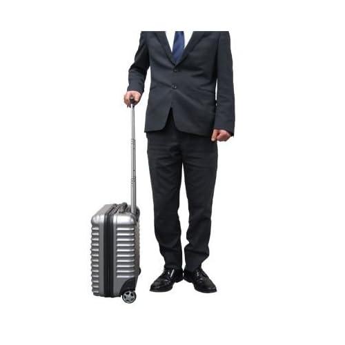 (グラディス・トラベル)GladysTravel スーツケース ビジネスキャリーバッグ ポリカーボネイト+ABS ブラック