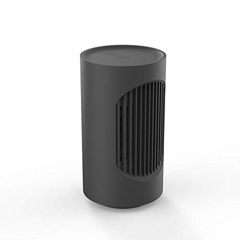 スマイル明るいサイバースペース小さな暖かい空気ブロワーミニヒーターオフィス暖かいフットヒーター世帯 (Color : Black)