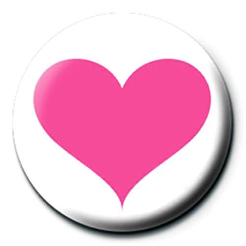 サブカル缶バッジ『ハート《ピンク》』/エンタメグッズ
