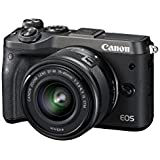 Canon EOS M6 Single Kit with EF-M 15-45mm IS STM Compact System Camera(M6KISB) 3 Inch Display,Black (Australian warranty)