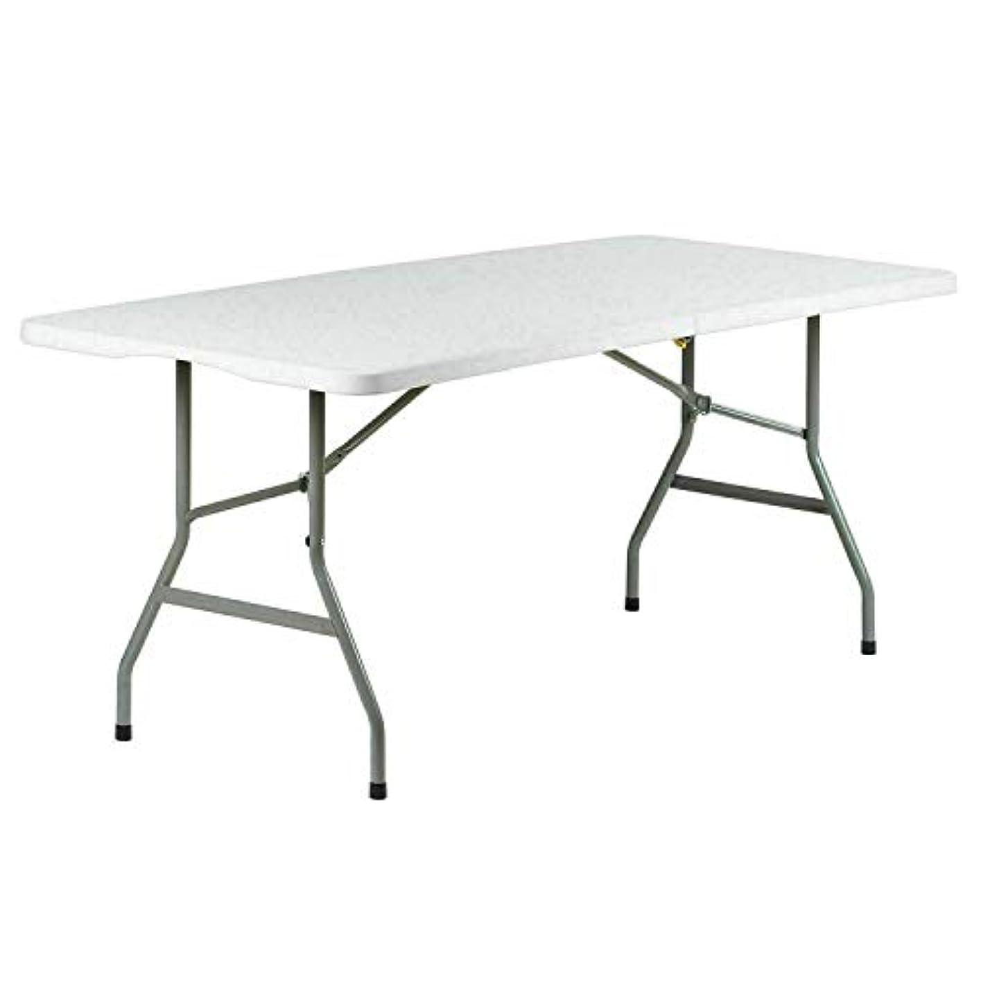 織る悪性農民BNSDMM 折りたたみ式テーブル - ピクニック用テーブル折りたたみ式テーブル、ピクニック、キャンプ用テーブル、折りたたみ式ポータブルテーブル、ピクニック用4テーブル180cmX75cmX75cmホワイト