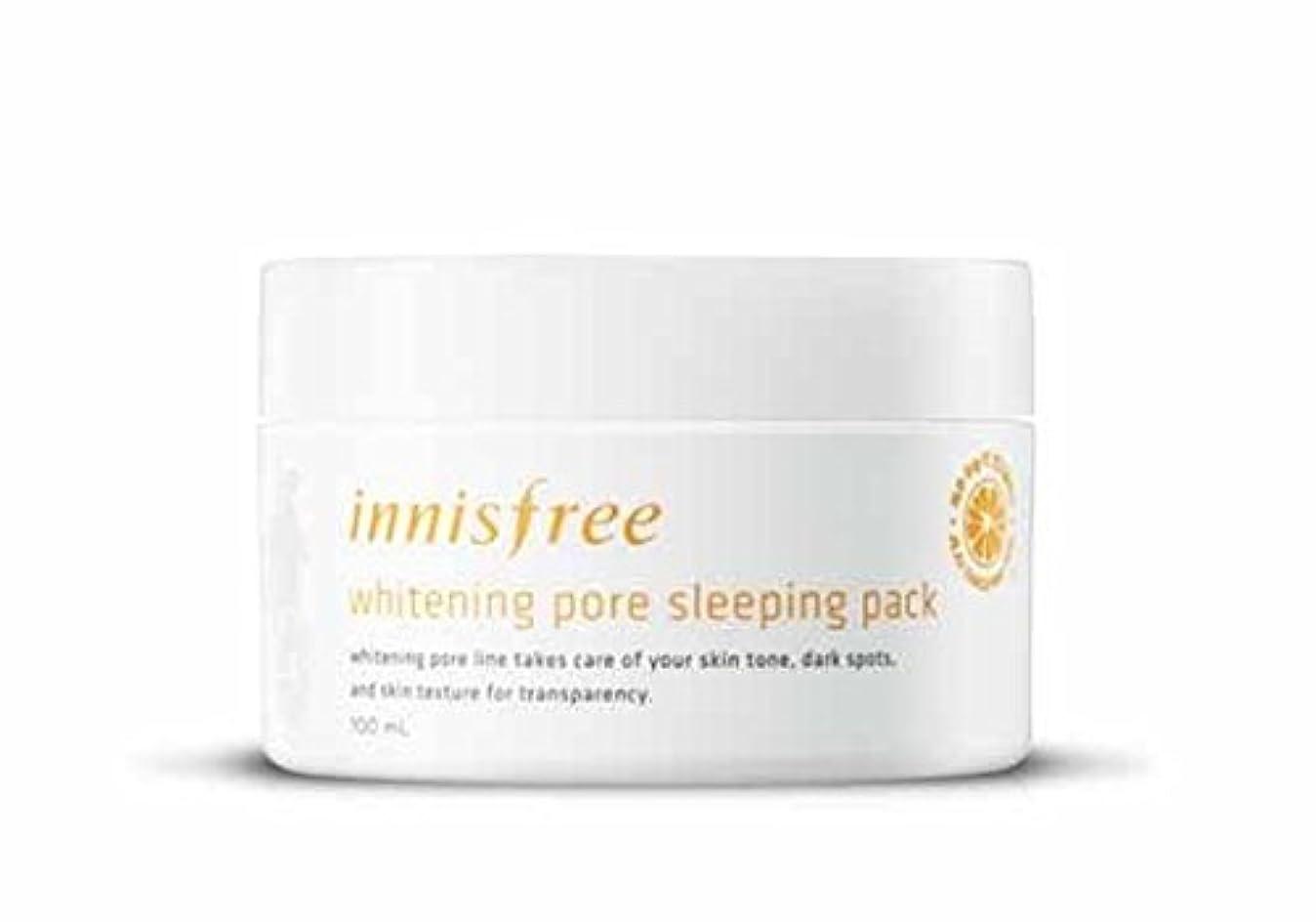 精緻化ダウン列挙するイニスフリーホワイトニングポアスリーピングパック100ml Innisfree Whitening Pore Sleeping Pack 100ml [海外直送品][並行輸入品]