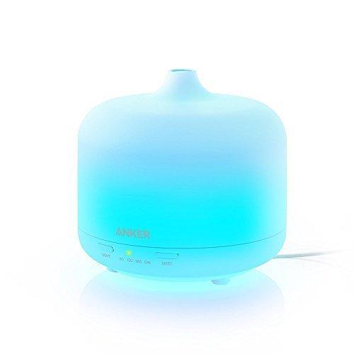 Anker 250ml エッセンシャルオイルディフューザー 超音波加湿器 【アロマセラピー / 7色カラー / 自動停止機能搭載】 リビング、オフィス、ヨガスタジオ用 …