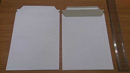 B5 厚紙封筒 ワンタッチ貼付テープ、開封テープ付き 白【50枚】