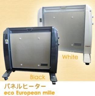 パネルヒーター エコ・ヨーロピアン・ミレ EB-1000WH/EB-1000BK ホワイト...