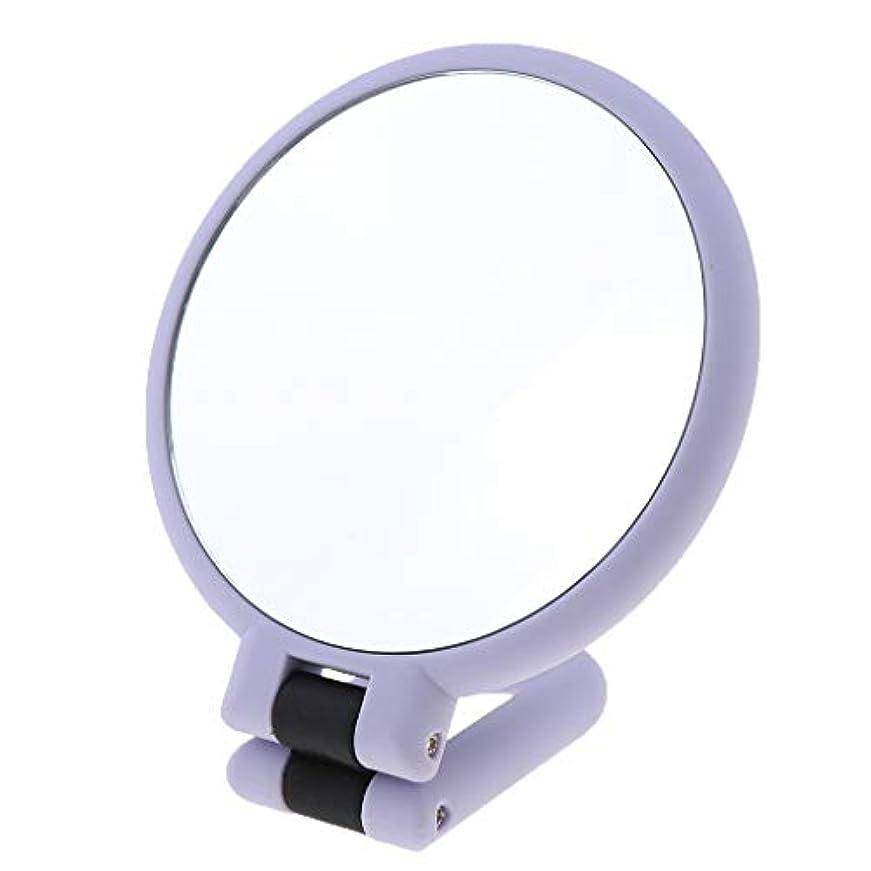 せっかち先生敬な化粧鏡 メイクミラー 折り畳み式 卓上ミラー 手持ち型 トラベルミラー 全3サイズ - 15倍の拡大鏡